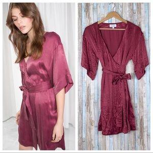 & Other Stories 4 Kimono Sleeve Wrap Robe Dress